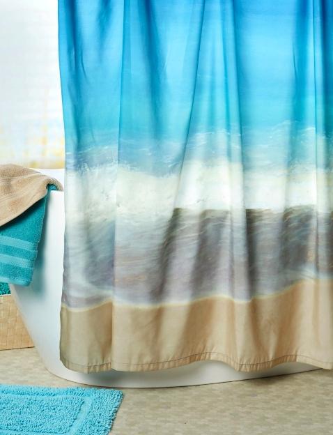 Beach Photo Shower Curtain
