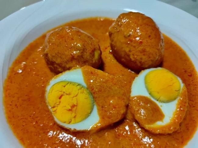 Telur Rebus Goreng