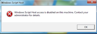 1. Mengatasi Windows Script Host Access disabled ketika menginstal driver