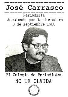 """Convocatoria: A 35 años del asesinato del periodista José """"Pepe"""" Carrasco Tapia"""