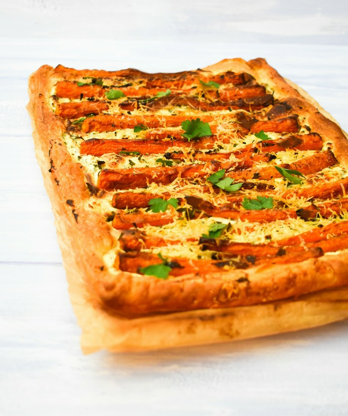 Scottish Baby Carrot & Chive Tart