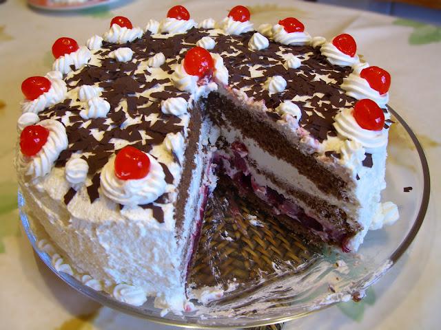 gâteau forêt noire facile