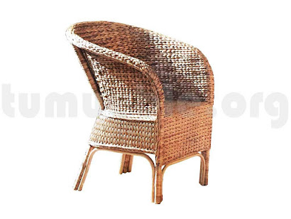 sillón rattan natural J942
