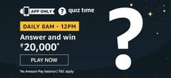 Amazon Quiz 23 December 2019 Answer Win - Rs.20000 Amazon Pay Balance