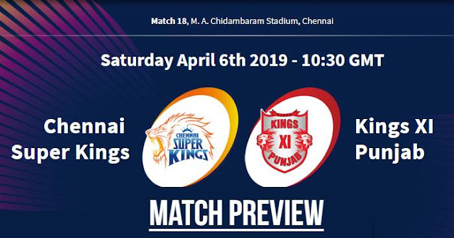 VIVO IPL 2019 Match 18 CSK vs KXIP Match Preview, Head to Head and Trivia