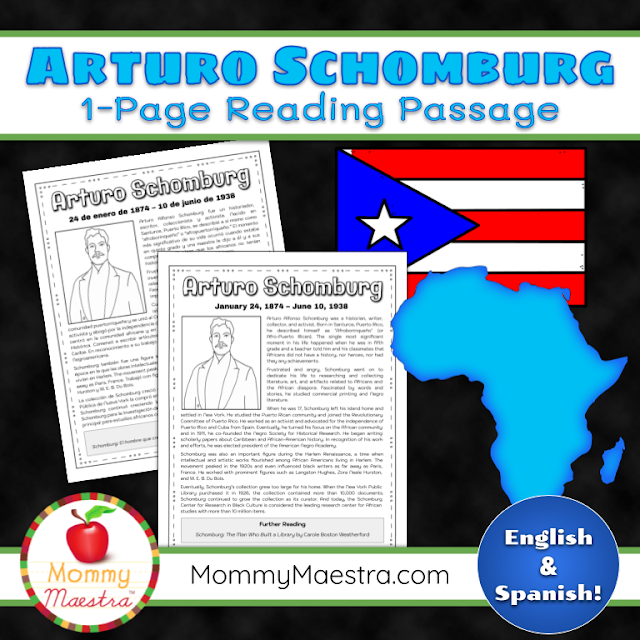 Arturo Schomburg Reading Passage