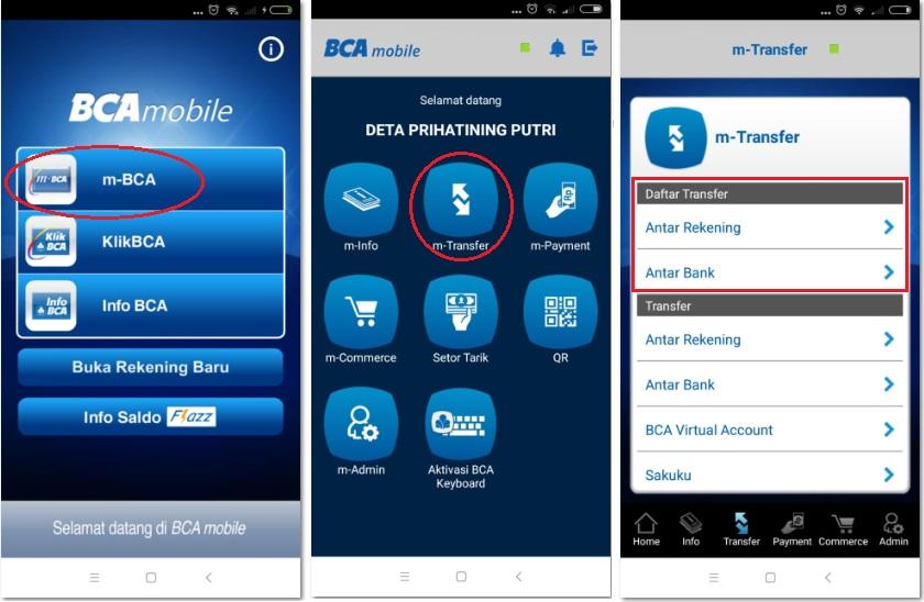 Contoh Cara Transfer Uang Di M Bca Lengkap Dengan Gambar Sesama Bca Bank Lain