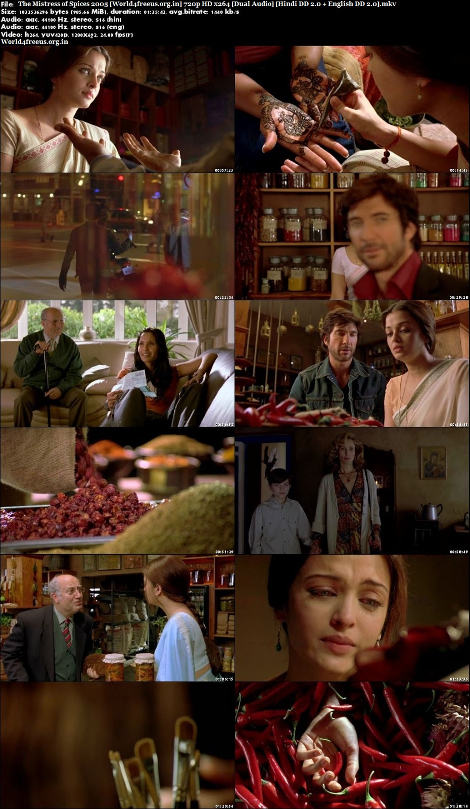 The Mistress of Spices 2005 Dual Audio Hindi English In HD 720p