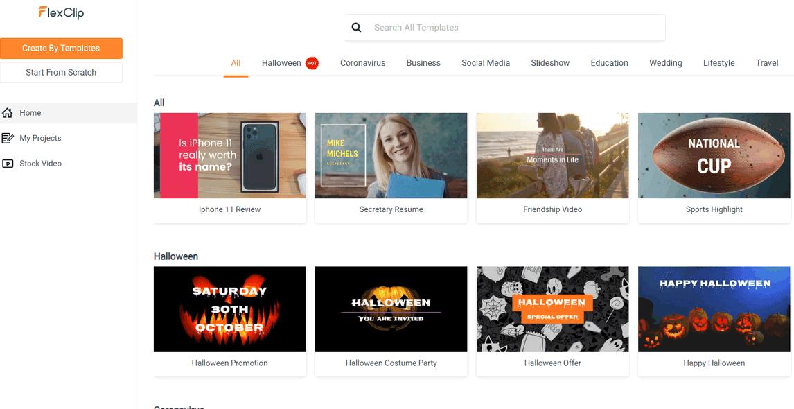 موقع FlexClip عمل مقدمة فيديو احترافية اون لاين 2020