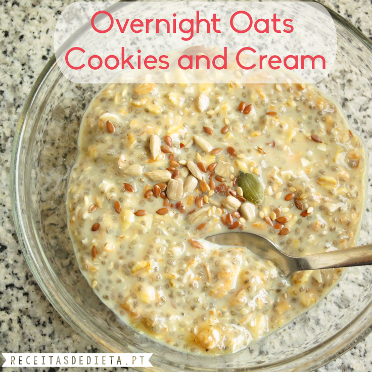 Overnight Oats de Cookies and Cream