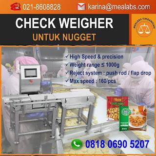 Checkweigher untuk Nugget