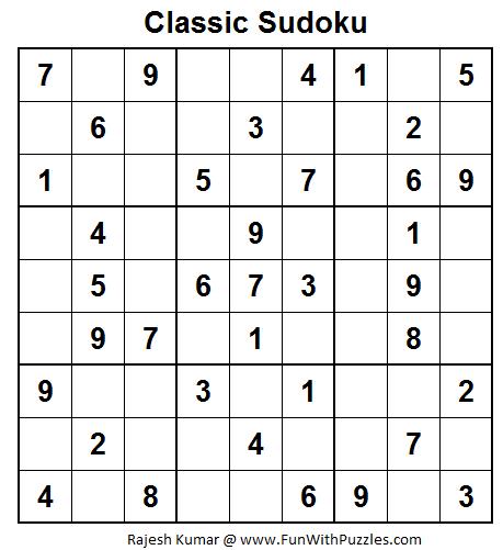 Classic Sudoku (Fun With Sudoku #25)-Fun With Puzzles
