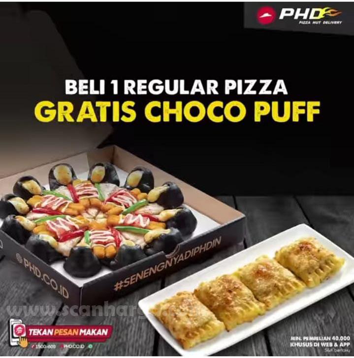 PHD Promo Beli 1 Pizza Krakatau Burst GRATIS Choco Puff