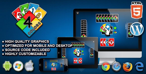 Download Four Colors - HTML5 Card Game