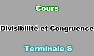Cours de Divisibilité et Congruences Terminale S PDF