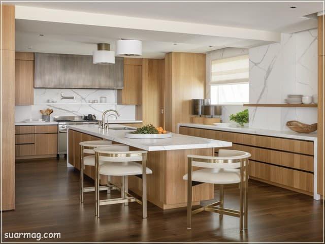 اشكال مطابخ خشب 2   wood kitchens shapes 2