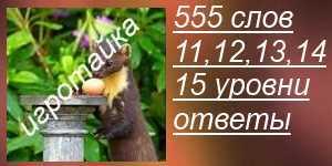 555 слов ответы на 11, 12, 13, 14, 15 уровни с картинками