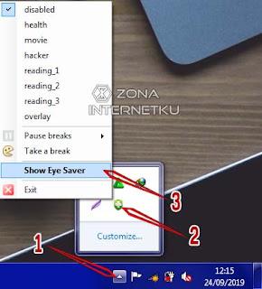 Cara Mengatur Kecerahan Layar PC Di Aplikasi Eye Saver