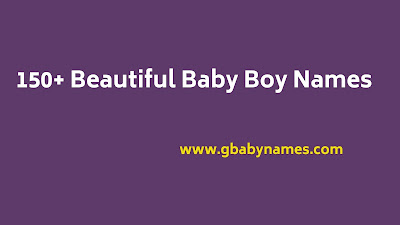 Beautiful Baby Boy Names