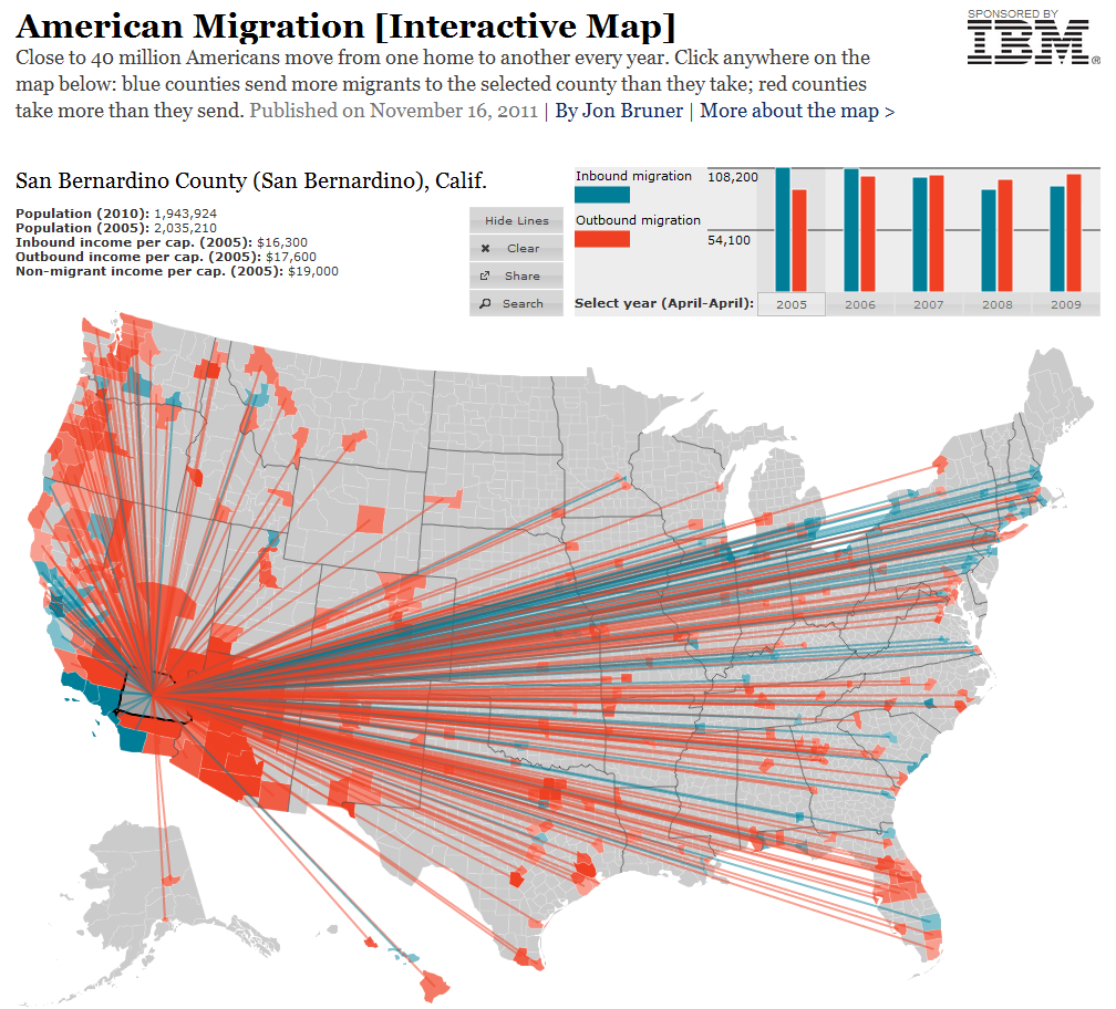 Cartonerd: Forbes map of American Migration on