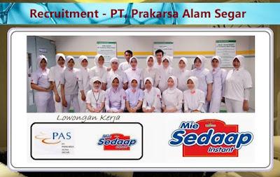 Informasi Rekrutmen Karyawan PT Prakarsa Alam Segar (PT PAS) - Periode Maret 2020