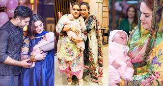 Awesome Clicks of Aiman Khan and Muneeb with their Daughter Amal