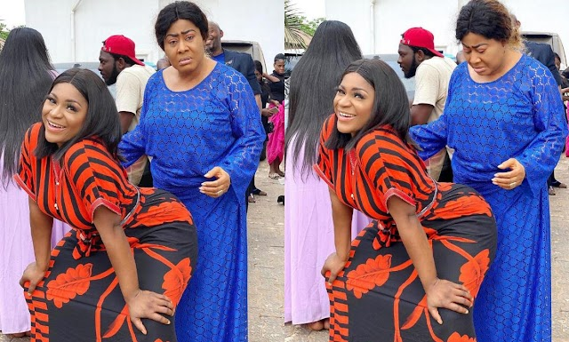 """Should I Give Up On This Daughter Of Mine"" – Ngozi Ezeonu Asks As Destiny Etiko Dances On Her In Stunning On Set Photos"