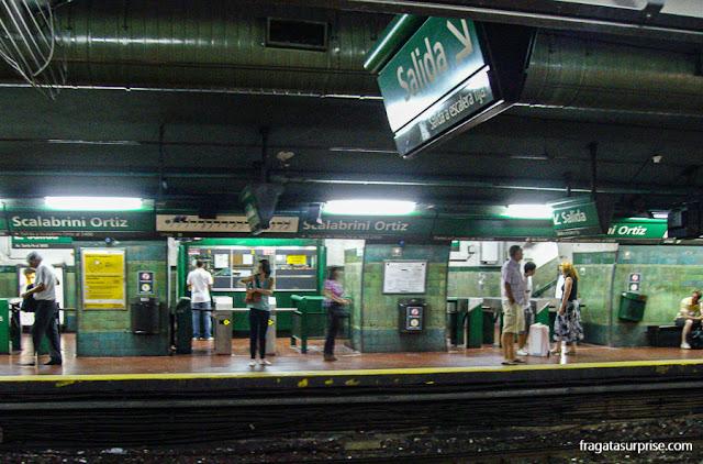 Estação de metrô Scalabrini Ortiz, Palermo, Buenos Aires