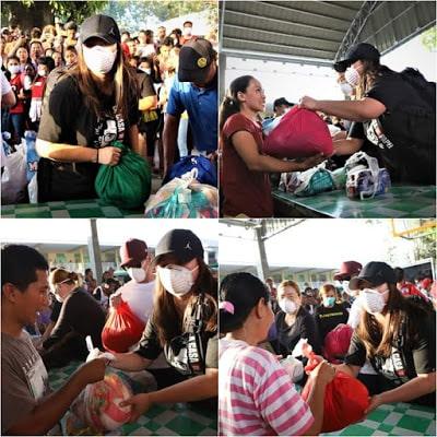 Angel Locsin relief efforts