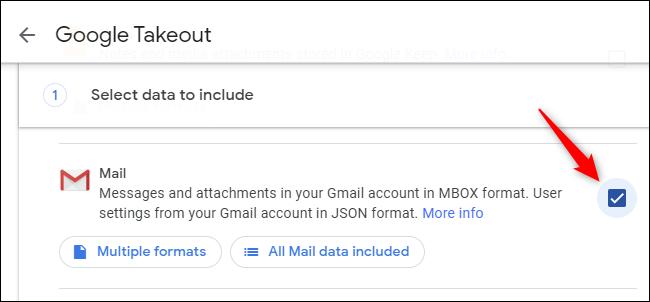 انقر فوق مربع الاختيار الموجود على يسار البريد.