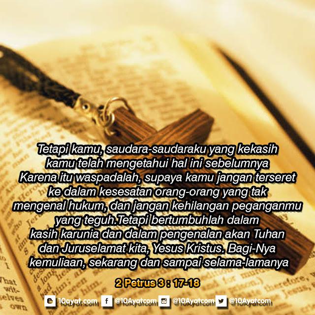2 Petrus 3: 17-18