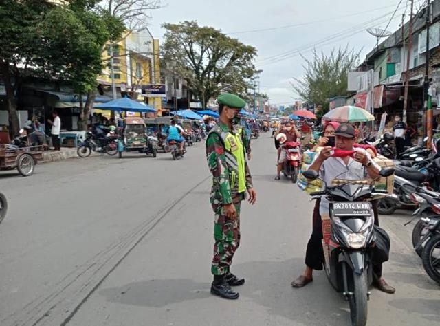 Operasi Yustisi Dilaksanakan Personel Jajaran Kodim 0207/Simalungun Bersama Dinas Terkait