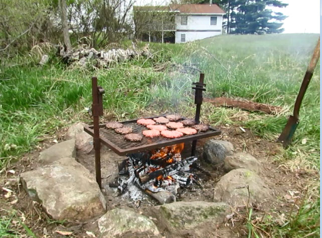 hamburgers on a grill