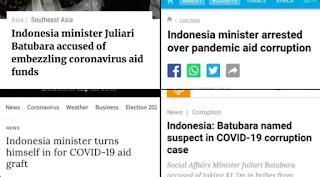 Aib Besar! Korupsi Menteri Sosial RI di Masa Pandemi Covid-19, Jadi Sorotan Dunia Internasional