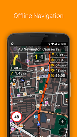 برنامج الخرائط للأندرويد Maps & GPS Navigation OsmAnd+ 3.1.5 Apk + Data for Android