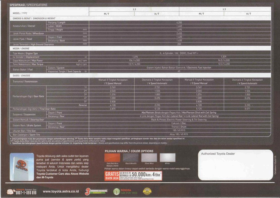 Spesifikasi Grand New Veloz Harga Yaris Trd Sportivo 2015 Brosur 2017 Toyota Bogor Avanza Innova