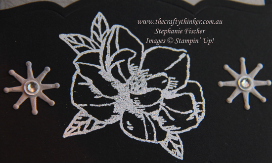 #thecraftythinker #stampinup #magnoliablooms #cardmaking #heatembossing , Magnolia Blooms, Magnolia Memory dies, heat embossing, using Versamark, Stampin' Up Australia Demonstrator, Stephanie Fischer, Sydney NSW