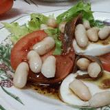 Receta de ensalada con alubias