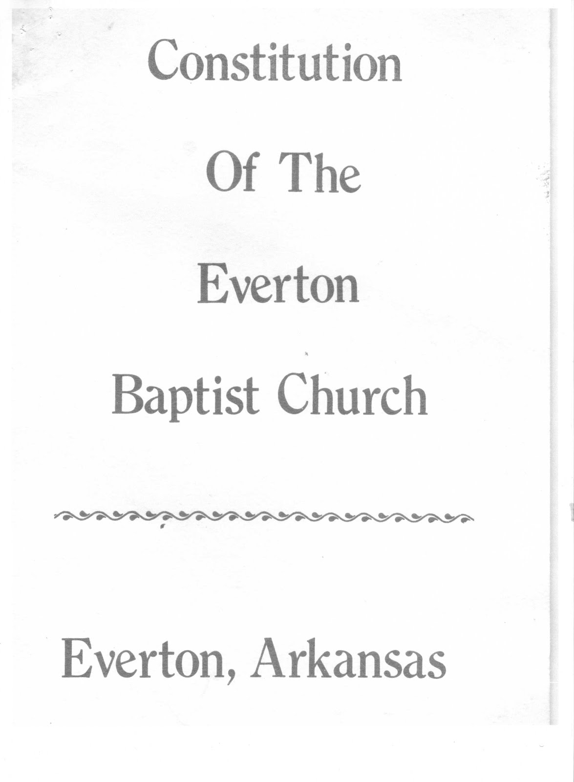 church constitution template - everton baptist church