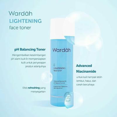 wardah lightening face toner advanced niacinamide