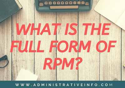 What Is The Full Form of RPM