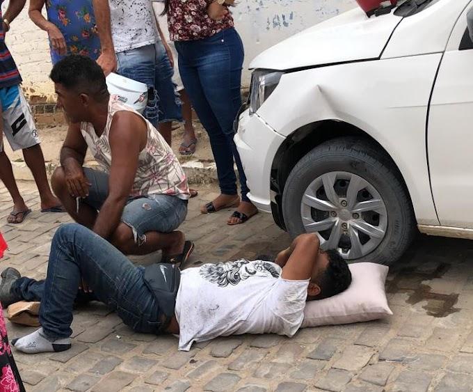 Jacobina: Colisão entre moto e carro é registrada no distrito do Junco
