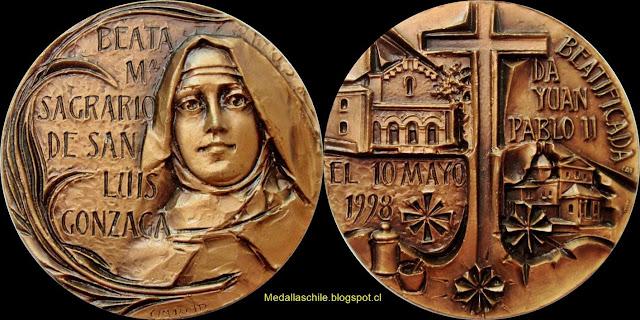 Medalla Beata María Sagrario de San Luis Gonzaga