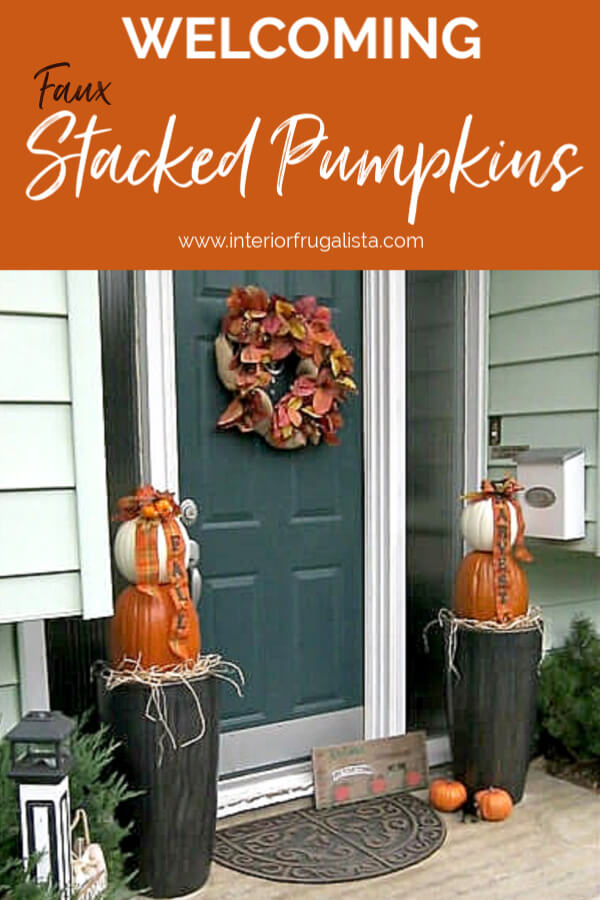 Traditional Fall Stacked Pumpkins