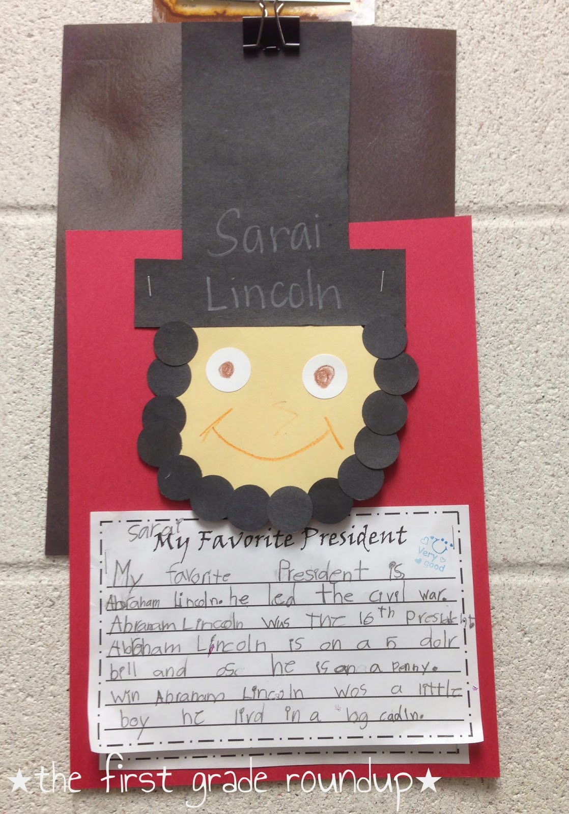 President S Day Abe Lincoln Firstgraderoundup