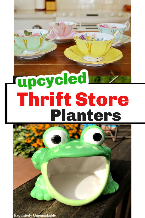 Upcycled Thrift Store Planters