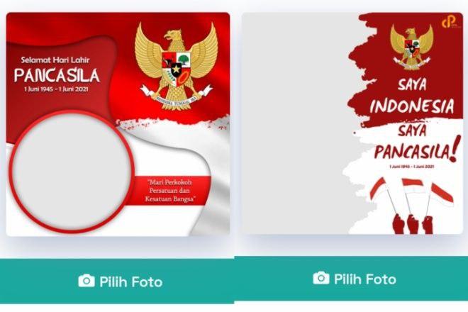 Download Di Sini Twibbon Bingkai Foto Selamat Hari Lahir Pancasila 2021