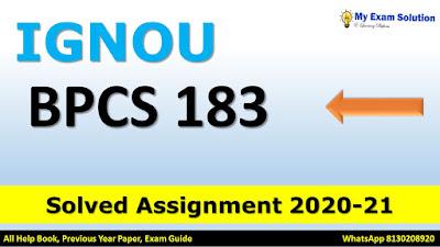 bpcs 183 emotional intelligence, bpcs 183 pdf, bpcs-183 assignment 2020, bpcs-183 assignment 202, bpcs 183 assignment 2020-21, bpcs 183 study material, bpcs 183 in hindi, bpcs-183 solved assignment