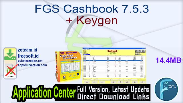 FGS Cashbook 7.5.3 + Keygen_ ZcTeam.id