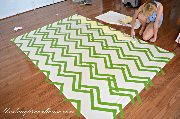 Painting chevrons on a sheet